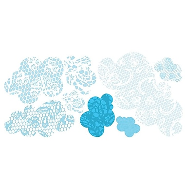 Pop & Lolli Lacey Clouds Wall Decal; Medium