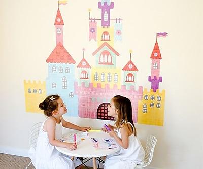Pop & Lolli Create-a-Castle Wall Decal; Medium