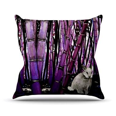 KESS InHouse Bamboo Rayon Bunny Outdoor Throw Pillow