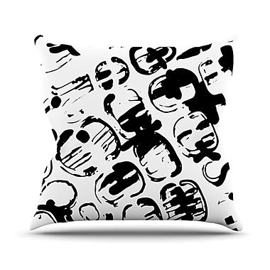 KESS InHouse Theodora's Tantrum Outdoor Throw Pillow