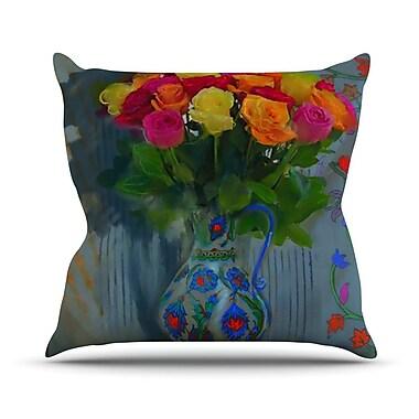 KESS InHouse Spring Bouquet Outdoor Throw Pillow
