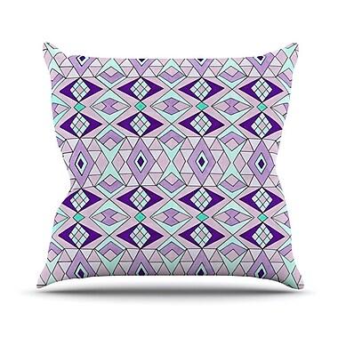 KESS InHouse Geometric Flow Outdoor Throw Pillow