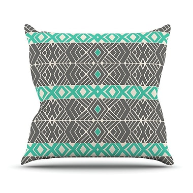 KESS InHouse Going Tribal Outdoor Throw Pillow