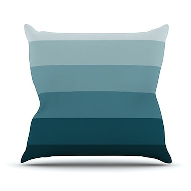 KESS InHouse Cijan Outdoor Throw Pillow