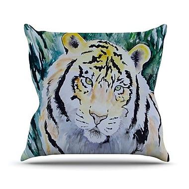 KESS InHouse Tiger Outdoor Throw Pillow