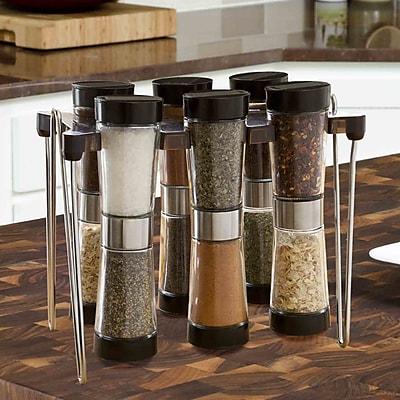 Modernhome Hourglass 6 Jar Spice Jar &