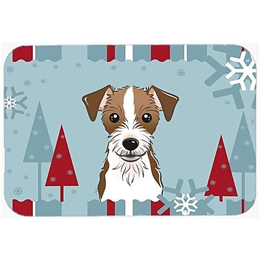 Caroline's Treasures Winter Holiday Jack Russell Terrier Glass Cutting Board