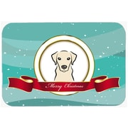 Caroline's Treasures Labrador Merry Christmas Glass Cutting Board; Yellow