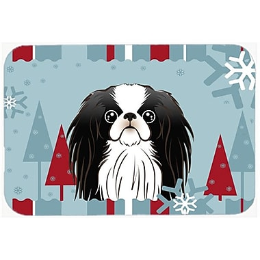 Caroline's Treasures Winter Holiday Japanese Chin Glass Cutting Board