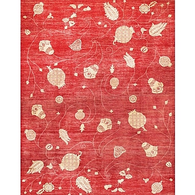 Pasargad Hand-Knotted Red Area Rug