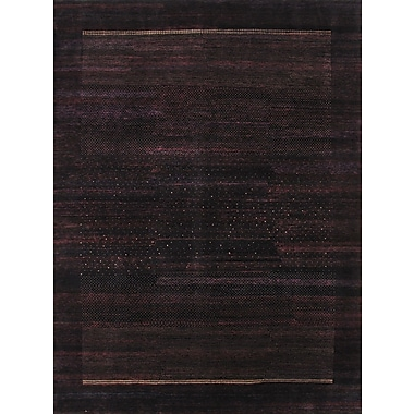 Pasargad Gabbeh Hand-Knotted Black Area Rug