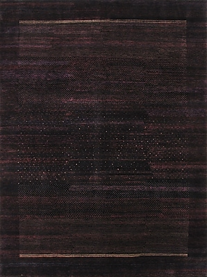 Pasargad Gabbeh Hand-Knotted Aubergine Area Rug