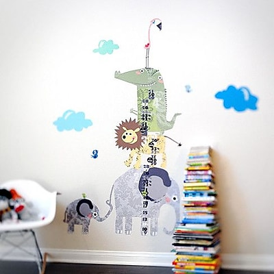 Pop & Lolli How Tall Am I? Height Chart Wall Decal