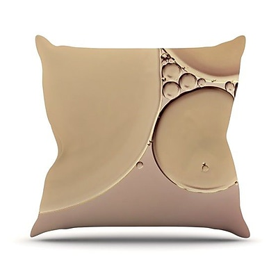 KESS InHouse A Touch of Pink Outdoor Throw Pillow