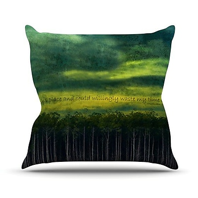 KESS InHouse I Like This Place Outdoor Throw Pillow