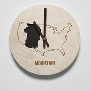 Reed Wilson Design 8'' Mountain Time Zone Clock