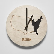 Reed Wilson Design 8'' Eastern Time Zone Clock