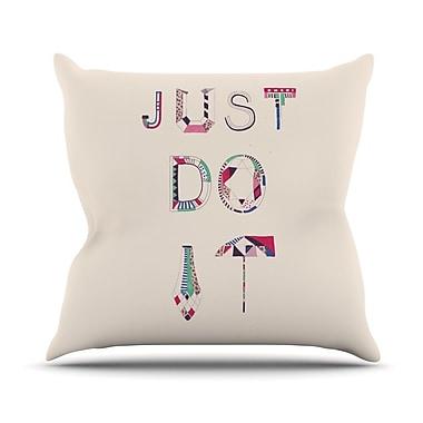 KESS InHouse Just Do It Outdoor Throw Pillow