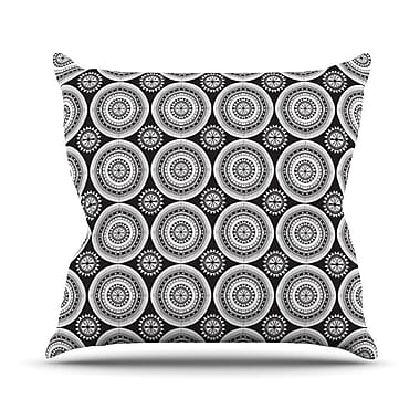 KESS InHouse Circles Outdoor Throw Pillow