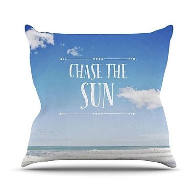 KESS InHouse Chase the Sun Outdoor Throw Pillow