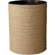 LaMont Hand Spun Plastic Trash Can; Natural