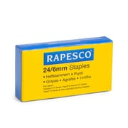 Rapesco® 23 Type Galvanized Staples for 923 Type Heavy Duty Stapling Machine, 6 mm, Silver (S24607Z3)