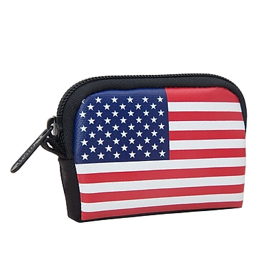 Manhattan Portage Stars And Stripes Coin Purse Black (1008-FLAG BLK)