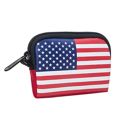 Manhattan Portage Stars And Stripes Coin Purse Red (1008-FLAG RED)