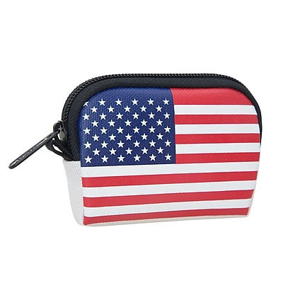 Manhattan Portage Stars And Stripes Coin Purse White (1008-FLAG WHT)