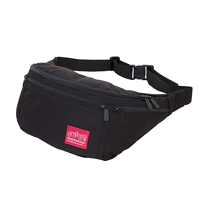 Manhattan Portage Alleycat Waist Bag Large  with Zipper Black (1102Z BLK)