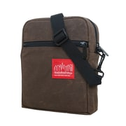 Manhattan Portage Waxed Canvas City Lights Small Dark Brown (1403-WCN DBR)