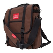 Manhattan Portage Commuter Laptop Bag with Back Zipper Dark Brown (1417Z DBR)