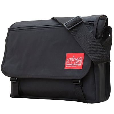 Manhattan Portage Waxed Canvas Europa Medium Black (1434-WP BLK)
