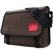 Manhattan Portage Waxed Canvas Europa Medium Dark Brown (1434-WP DBR)