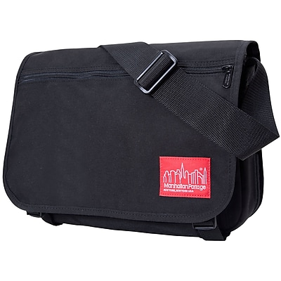 Manhattan Portage Europa Medium with Back Zipper And Compartments Black (1439Z-C BLK)