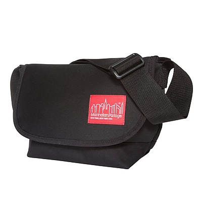 Manhattan Portage Neoprene Messenger Bag Jr. Small Black (1605-JR-NEO BLK)