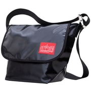 Manhattan Portage Vinyl Vintage Messenger Bag Small Black (1605V-VL BLK)