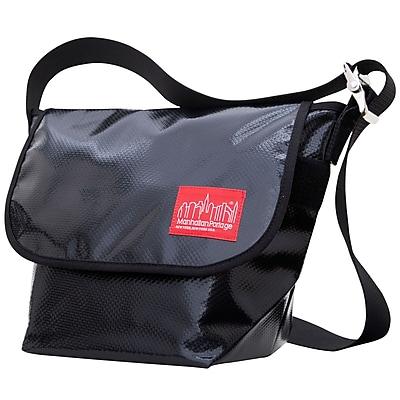 Manhattan Portage Vinyl Vintage Messenger Bag Small Black (1605V-VL BLK)