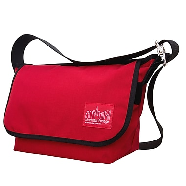 Manhattan Portage Vintage Messenger Bag Jr. Medium Red (1606V-JR RED)