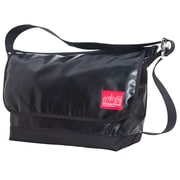 Manhattan Portage Vinyl Vintage Messenger Bag Large Ver2 Black (1607V-VL-2 BLK)