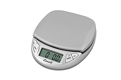 Escali Pico Digital Scale, 11 Lb 5 Kg, Silver Gray
