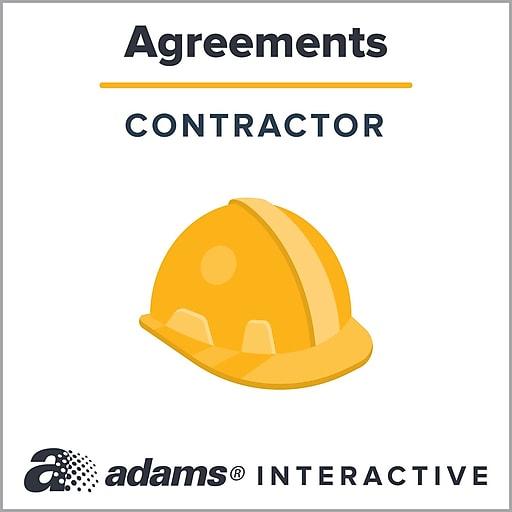 Adams Subcontractor Agreement; 1-User, Web Downloaded (DLF762-SL)