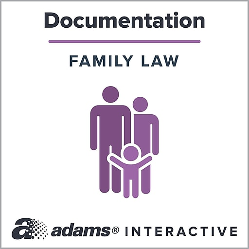 Adams Child Care Agreement; 1-User, Web Downloaded