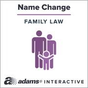 Adams Name Change, 1-User, Instant Web Downloaded Form