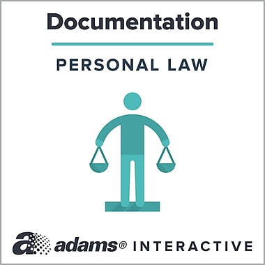 Adams® Authorization for Minor's Medical Treatment Contact List, 1-Use Interactive Digital Legal Form