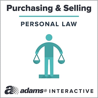 Adams® Automobile Bill of Sale, 1-Use Interactive Digital Legal Form