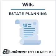 Adams Codicil for Will; 1-User, Web Downloaded