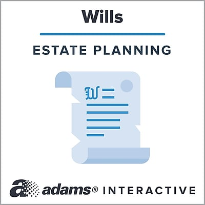 Adams® Codicil Revoking a Gift to a Named Beneficiary, 1-Use Interactive Digital Legal Form