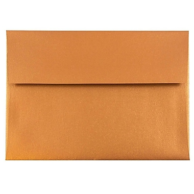 JAM Paper® A8 Invitation Envelopes, 5.5 x 8.125, Stardream Metallic Copper, 25/pack (9844)