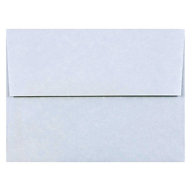 JAM Paper® A2 Invitation Envelopes, 4 3/8 x 5 3/4, Parchment Blue Recycled, 50/pack (10197I)